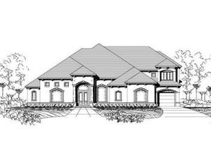 Mediterranean Exterior - Front Elevation Plan #411-136