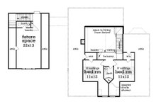 Southern Floor Plan - Upper Floor Plan Plan #45-571