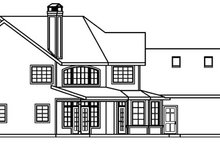 Craftsman Exterior - Rear Elevation Plan #124-507