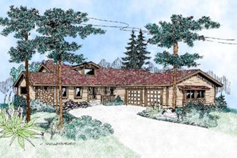 Country Exterior - Front Elevation Plan #60-400 - Houseplans.com