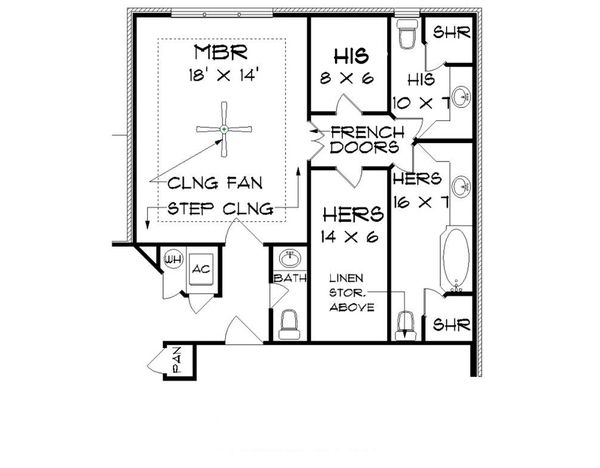Tudor Floor Plan - Other Floor Plan Plan #45-373