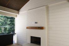 Tudor Exterior - Covered Porch Plan #54-399
