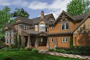 Craftsman Style House Plan - 7 Beds 8.5 Baths 8515 Sq/Ft Plan #132-218 Exterior - Rear Elevation