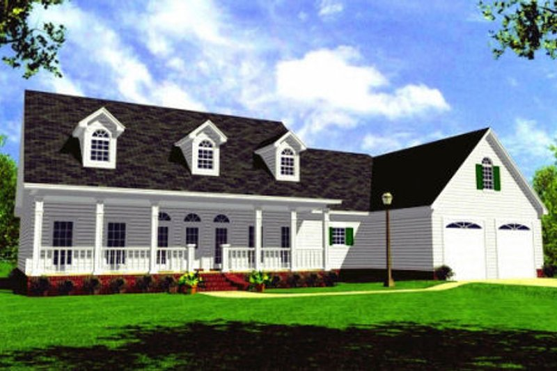 Farmhouse Exterior - Front Elevation Plan #21-109 - Houseplans.com