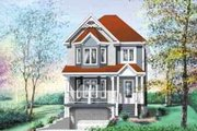 European Style House Plan - 3 Beds 1.5 Baths 1332 Sq/Ft Plan #25-209 Exterior - Front Elevation