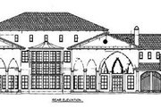 European Style House Plan - 5 Beds 6.5 Baths 7892 Sq/Ft Plan #119-188 Exterior - Rear Elevation