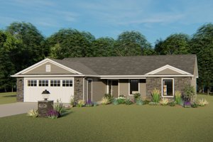 Architectural House Design - Ranch Exterior - Front Elevation Plan #1064-32