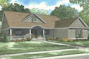 Traditional Exterior - Front Elevation Plan #17-1086
