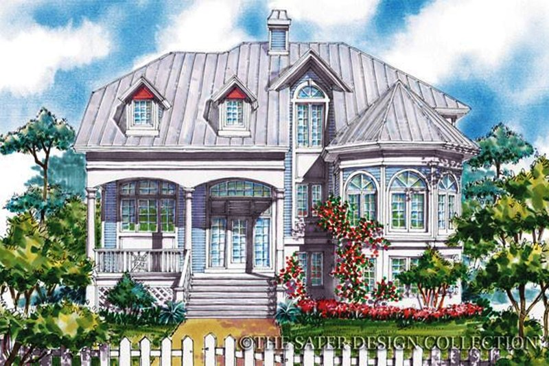 Victorian Exterior - Front Elevation Plan #930-64
