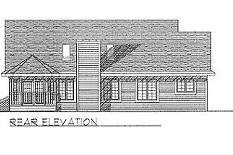 Traditional Exterior - Rear Elevation Plan #70-195 - Houseplans.com