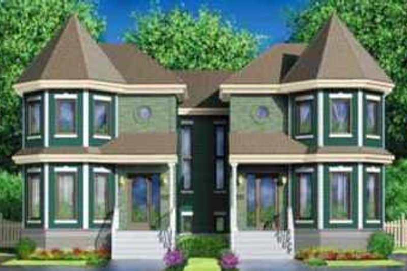 European Style House Plan - 2 Beds 1 Baths 2822 Sq/Ft Plan #25-343 Exterior - Front Elevation