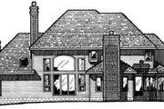 European Style House Plan - 4 Beds 4.5 Baths 3623 Sq/Ft Plan #20-287 Exterior - Rear Elevation