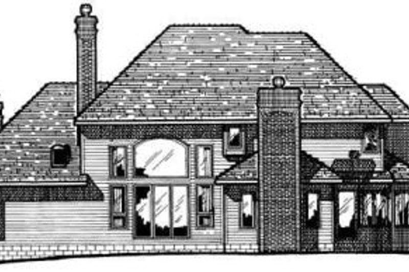 European Exterior - Rear Elevation Plan #20-287 - Houseplans.com