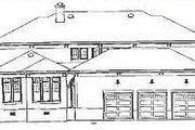 European Style House Plan - 5 Beds 3.5 Baths 5908 Sq/Ft Plan #81-411 Exterior - Rear Elevation