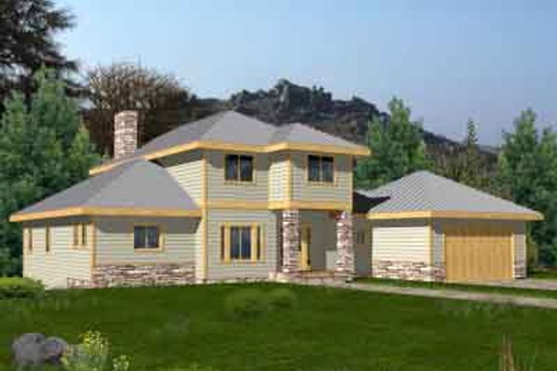Traditional Exterior - Front Elevation Plan #117-461