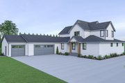 Farmhouse Style House Plan - 4 Beds 3.5 Baths 3275 Sq/Ft Plan #1070-41 Exterior - Rear Elevation