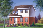 Traditional Style House Plan - 3 Beds 1.5 Baths 1352 Sq/Ft Plan #25-2056 Exterior - Front Elevation