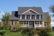Colonial Style House Plan - 4 Beds 3.5 Baths 3021 Sq/Ft Plan #429-21 Exterior - Other Elevation