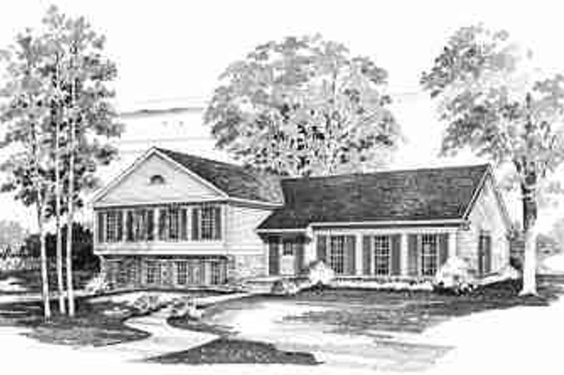 Colonial Exterior - Front Elevation Plan #72-301