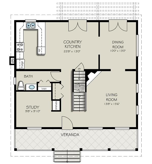 Home Plan Design - Country Floor Plan - Main Floor Plan #427-1