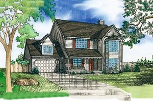Country Exterior - Front Elevation Plan #405-150