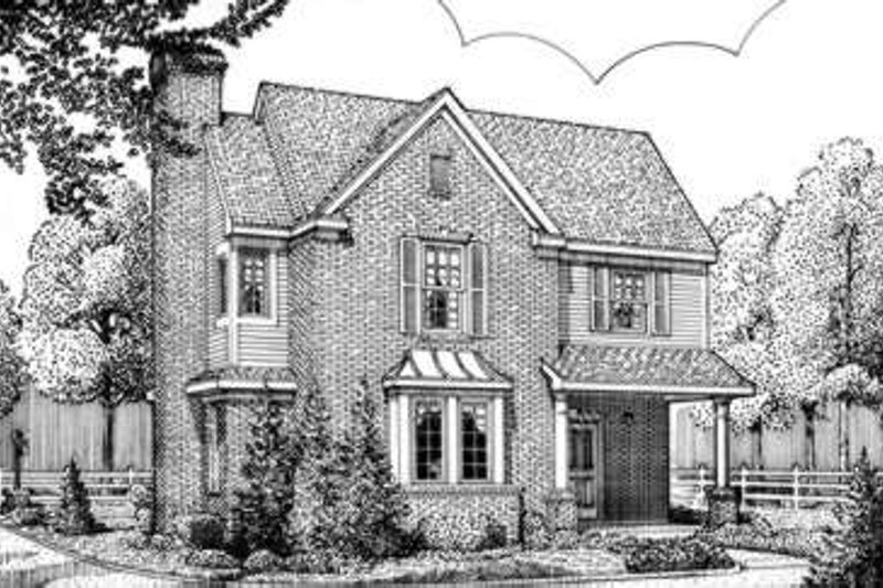 European Exterior - Front Elevation Plan #410-285