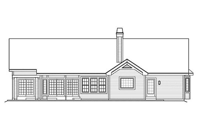 Traditional Exterior - Rear Elevation Plan #57-375 - Houseplans.com
