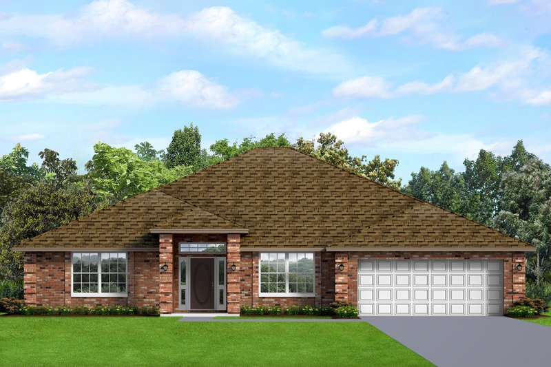 Dream House Plan - Ranch Exterior - Front Elevation Plan #1058-194