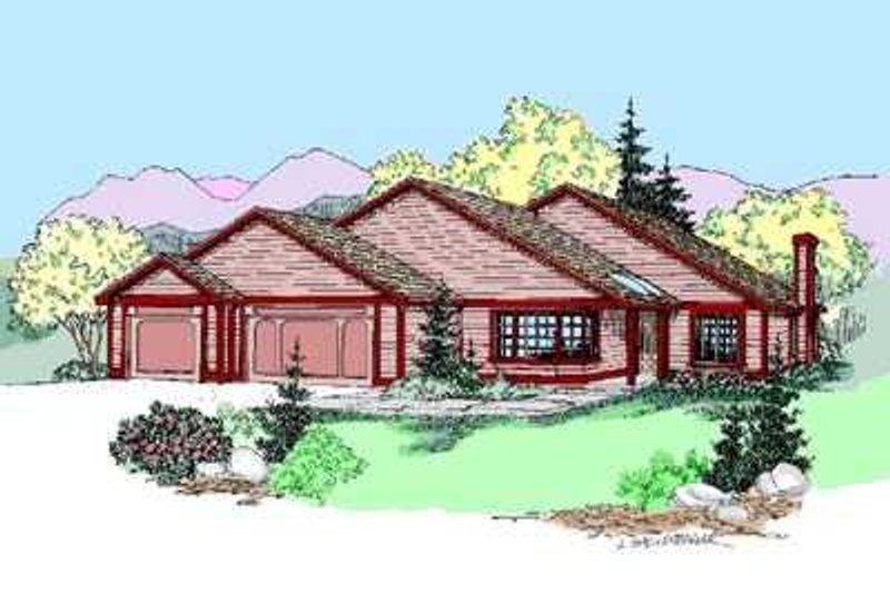 Traditional Exterior - Front Elevation Plan #60-496 - Houseplans.com