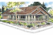 Craftsman Style House Plan - 3 Beds 2 Baths 1265 Sq/Ft Plan #124-617 Exterior - Front Elevation