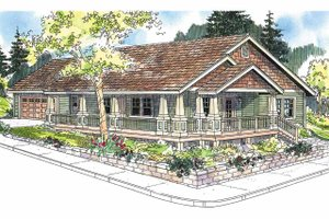House Plan Design - Craftsman Exterior - Front Elevation Plan #124-617
