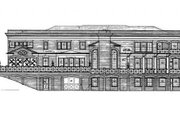 Classical Style House Plan - 5 Beds 4 Baths 5120 Sq/Ft Plan #119-124 Exterior - Rear Elevation