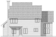 Traditional Style House Plan - 3 Beds 2.5 Baths 2262 Sq/Ft Plan #70-649 Exterior - Rear Elevation