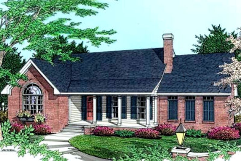 Traditional Exterior - Front Elevation Plan #406-184 - Houseplans.com