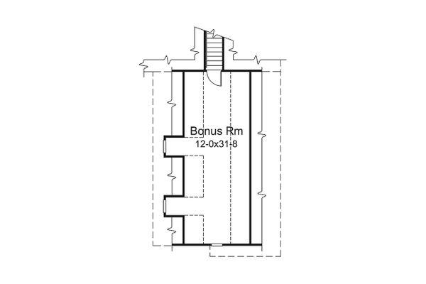 Dream House Plan - Ranch Floor Plan - Upper Floor Plan #57-665