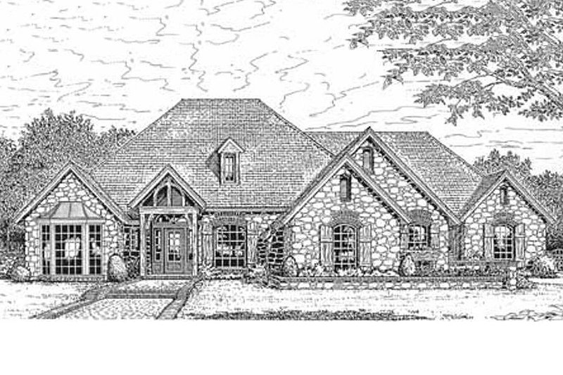 European Exterior - Front Elevation Plan #310-630