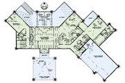 European Style House Plan - 4 Beds 4.5 Baths 4831 Sq/Ft Plan #17-2559 Floor Plan - Main Floor Plan