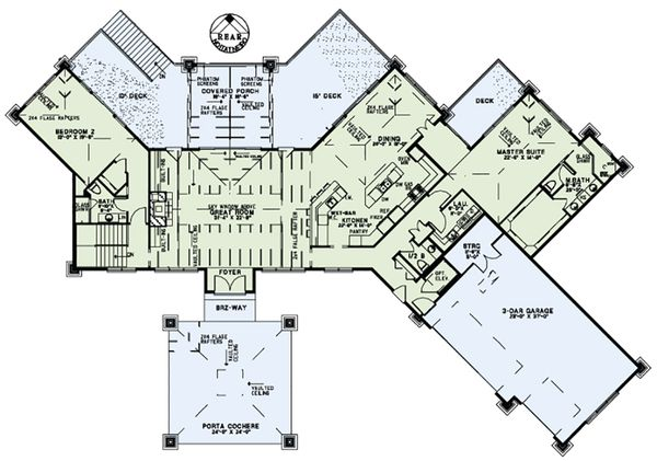 European Floor Plan - Main Floor Plan Plan #17-2559
