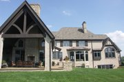 European Style House Plan - 4 Beds 6 Baths 9032 Sq/Ft Plan #458-2 Exterior - Other Elevation