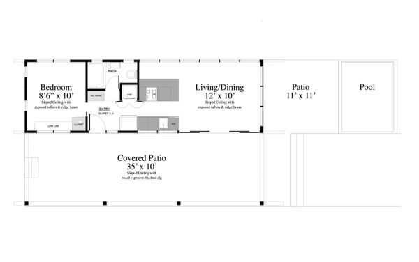 Contemporary Floor Plan - Main Floor Plan Plan #917-2
