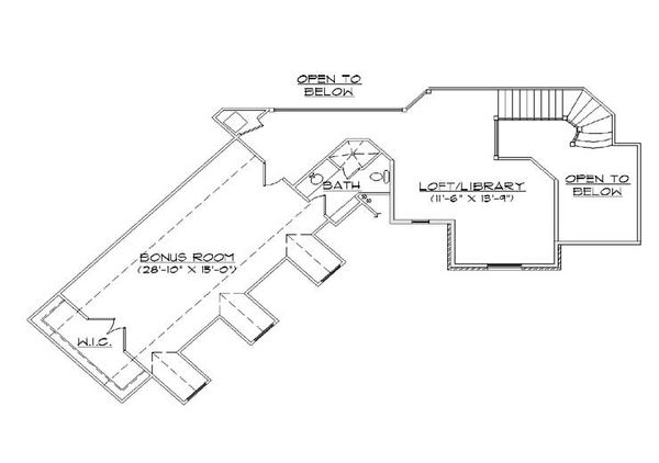 House Plan Design - European Floor Plan - Upper Floor Plan #5-427