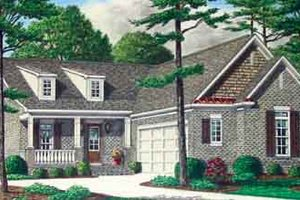 Colonial Exterior - Front Elevation Plan #34-189