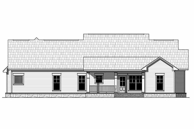 Craftsman Exterior - Rear Elevation Plan #21-311 - Houseplans.com