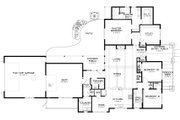 Craftsman Style House Plan - 3 Beds 2.5 Baths 2070 Sq/Ft Plan #895-9 Floor Plan - Main Floor Plan