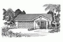 Adobe / Southwestern Exterior - Front Elevation Plan #72-282