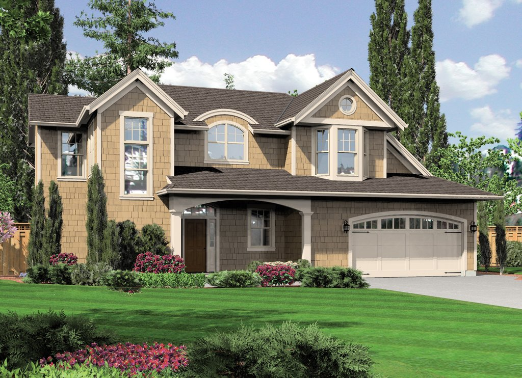 Craftsman style house plan 3 beds 2 5 baths 2374 sq ft for Cost to build a 576 sq ft house