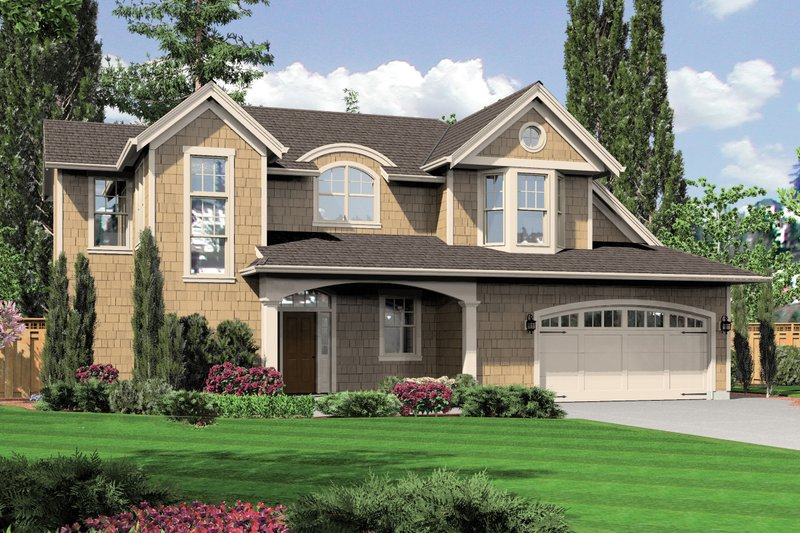 Craftsman Exterior - Front Elevation Plan #48-576
