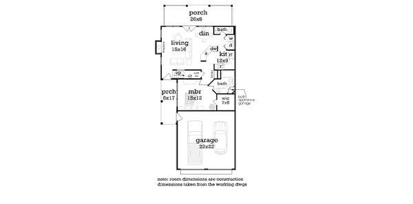 House Plan Design - Craftsman Floor Plan - Main Floor Plan #45-592