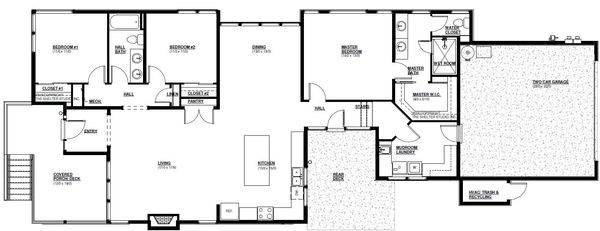 Modern Floor Plan - Main Floor Plan Plan #895-110