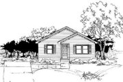 Ranch Style House Plan - 3 Beds 1 Baths 1003 Sq/Ft Plan #334-111 Exterior - Front Elevation
